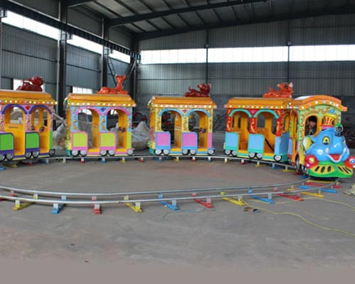 elephant themed train track in amusement park rides supplier Beston