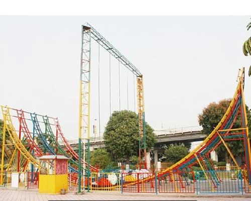 fairground meniscus roller coaster car