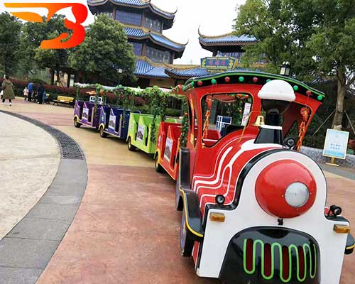 amusement park trackless train rides
