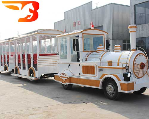 diesel trackless train rides