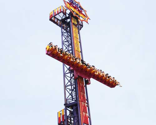 vertical drop ride