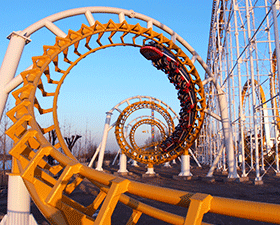 giant amusement park roller coaster rides for sale