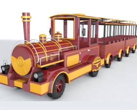 different types of electric trackless trains for parks and malls in Beston
